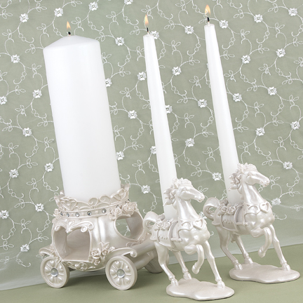 Hortense B. Hewitt 57816 Once Upon a Time Candle Stand Set