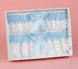 Hortense B. Hewitt 69334 Blue Heart Keep / Throw Garter Set