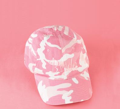 Hortense B. Hewitt 82113 Pink Bride Camouflage Cap