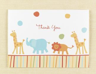 Hortense B. Hewitt 82411 Jungle Animals Thank You Cards