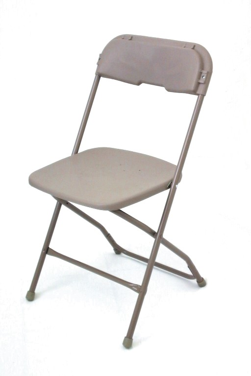 McCourt 65000 Series 5 Stackable Folding Chair - Neutral on Neutral Frame