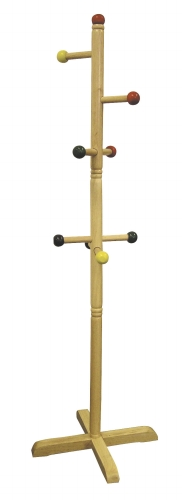 Ore International JW-101 Kids  Primary-Color 8-Peg Coat Rack