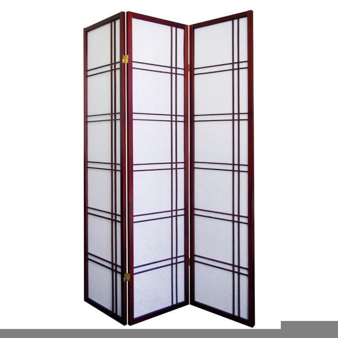 Ore International R542CH Girard 3-Panel Room Divider - Cherry