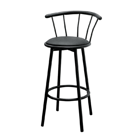 Ore International R543 BLK Set of 2 Swivel Barstools - Black -29