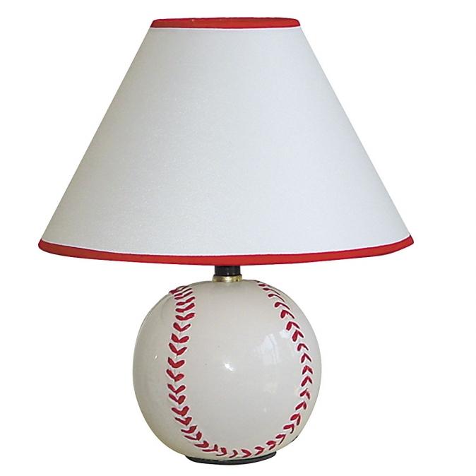 Ore International 604BB Ceramic Baseball Table Lamp
