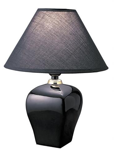 Ore International 608BK Ceramic Table Lamp - Black