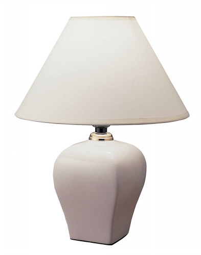 Ore International 608IV Ceramic Table Lamp - Ivory