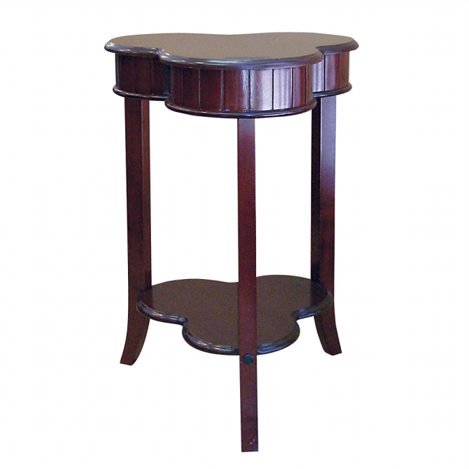 Ore International H-125 Shamrock End Table - Cherry