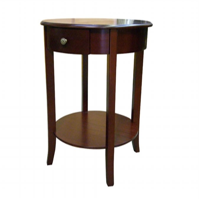 Ore International H-125N Round End Table - Cherry