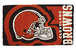 Team Sports America NFL0007L-803 18  x30  Welcome Mat Bleached-Cleveland Browns