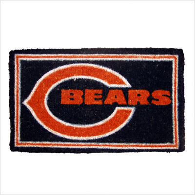 Team Sports America NFL0007L-814 18  x30  Welcome Mat Bleached-Chicago Bears