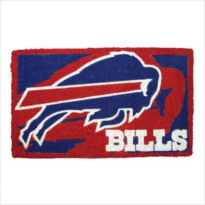 Team Sports America NFL0007L-816 18  x30  Welcome Mat Bleached-Buffalo Bills