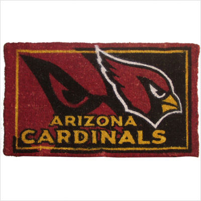 Team Sports America NFL0007L-826 18  x30  Welcome Mat Bleached-Arizona Cardinals
