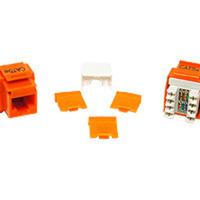 Cables To Go 03795 Cat5E Rj45 Keystone Jack Orange
