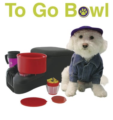 Furry Travelers 1002 RED-TO GO BOWL - Red