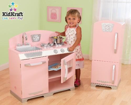 Kid Kraft 53160 Pink Retro Kitchen and Refrigerator