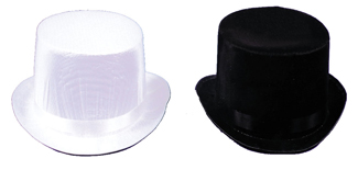 Costumes For All Occasions GC04BKLG Top Hat Trans Silk Black Large