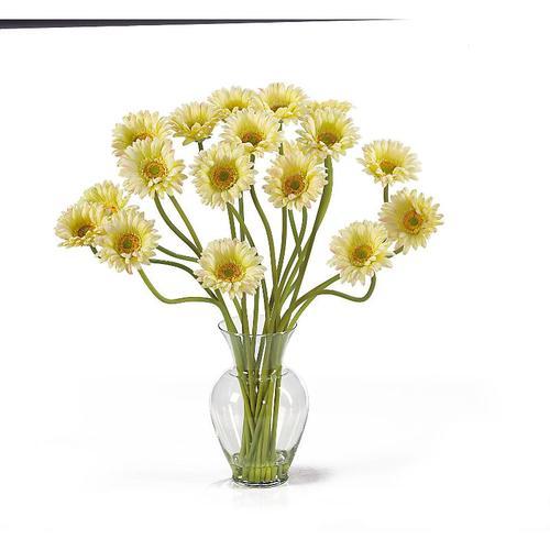 Nearly Natural 1086-CR Gerber Daisy Liquid Illusion