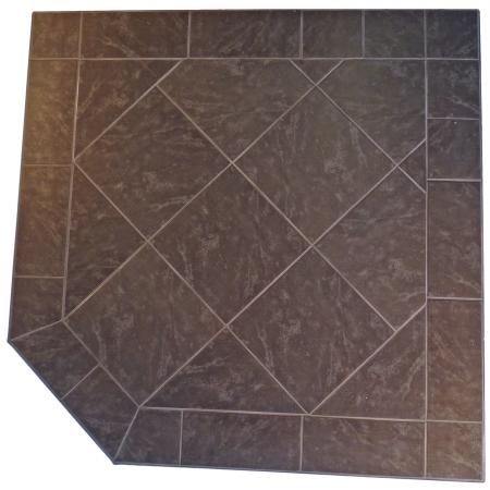 Kalvin International SP3-1228 48 x 48 Corner Hearth Pad - Standard Edge