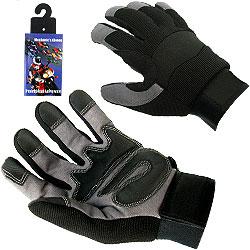 High Performance Spandex Mechanic Glove with Cloth Tie - M