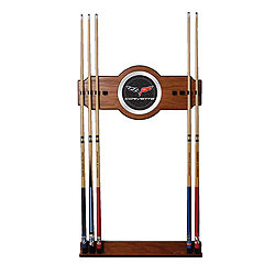 Corvette C6 2 Piece Wood and Mirror Wall Cue Rack