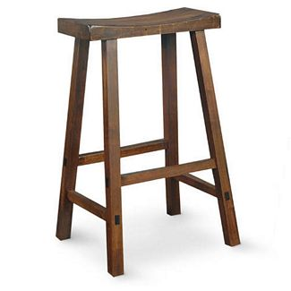 International Concepts 1S61-683 WALNUT SADDLE SEAT BARSTOOL - 29 Inch