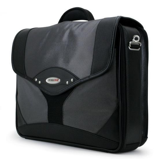 Mobile Edge Premium Notebook Case - Top Loading - Ballistic Nylon - Silver  Black - Notebook Case