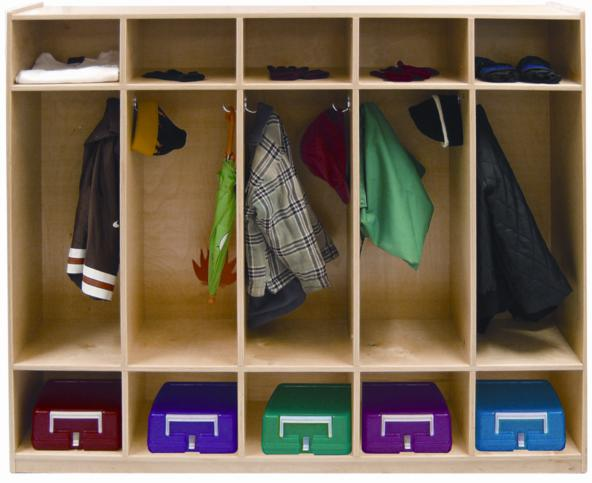 Early Childhood Resources ELR-0425 5-Section Coat Locker- Straight