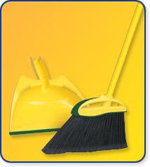 O Cedar 150215/272 Angler Angle Broom with Dust Pan - Case of 4