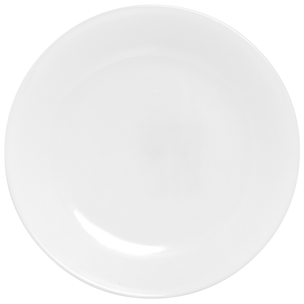 Corell 6003880 WHT 8.5 Inch Winter Frost Luncheon Plate - Case of 6