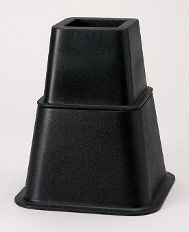 Creative Bath Products GBR03BLK BLK Adjustable Bed Riser System - Black - Case of 6
