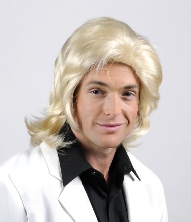 Wicked Wigs 812223011462 Men Shaggy - Blonde Wig