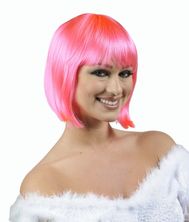 Wicked Wigs 812223010755 Charm Hot Pink Wig