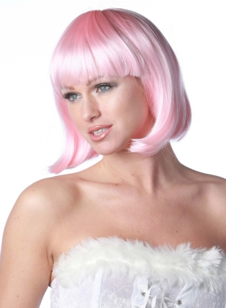 Wicked Wigs 812223010748 Deluxe Pink Charm Wig Adult