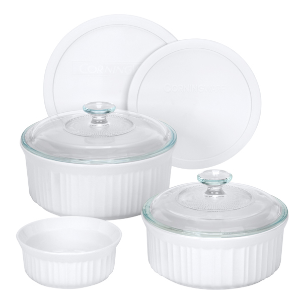 Corningware 1048149 French White 7-Pc Set