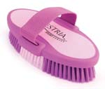 7.5 Inch Large Equestrian Sport Oval Body Brush - Purple  - 2170-2