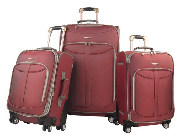 Luggage America OE-8800-3-RD Olympia Tuscany 3 pc Luggage Set
