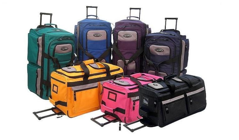 """Luggage America SRD-33-RD Olympia 33"""" 8 Pocket Rolling Duffel"""
