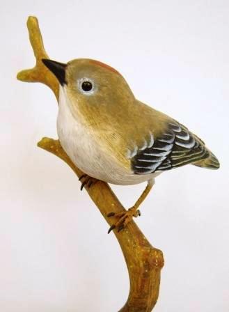 3 Beyond Inc. GKING03 Golden-CrowedAKinglet Wood Bird