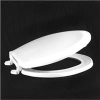 Centoco 1600-001 White Elongated Economy Plastic Toilet Seat