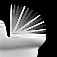 Centoco 1700SC-301 Crane White Luxury Safety Close Toilet Seat