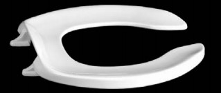 Centoco 300CC-001 White Commerical Plastic Toilet Seat with zinc plated check hinge