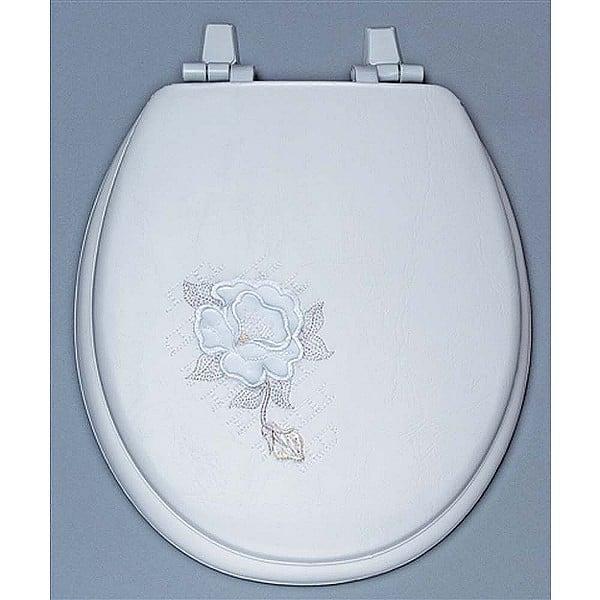 Centoco HPS20SR-001 Summer Rose Embroidered Soft Vinyl Toilet Seat