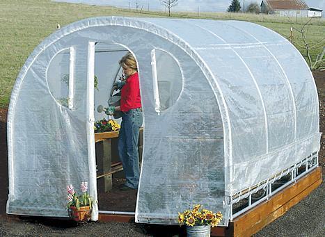 "Weatherguard 6'6""Hx6Wx12'L round top greenhouse-IS 62912"