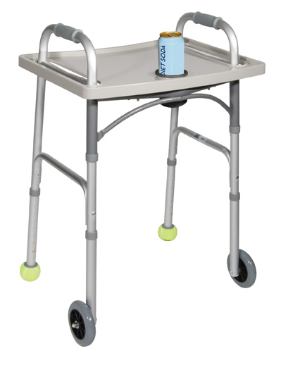 Drive Medical 10124 Deluxe Universal Walker Tray- Gray