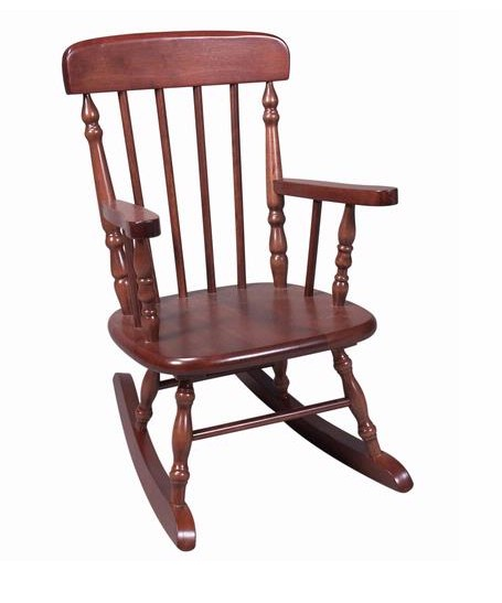 Giftmark 1410C Deluxe Child's Spindle Rocking Chair- Cherry