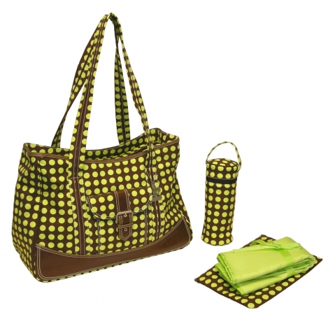 Kalencom 0-88161-23001-6 Green Heavenly Dots Week Ender Bag
