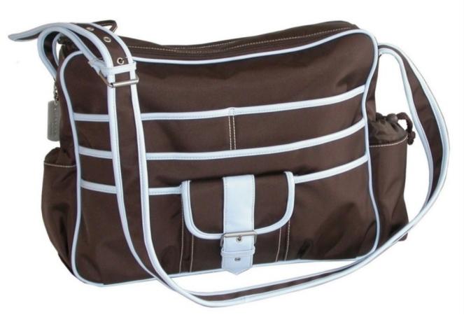 Kalencom 88161222431  Chocolate-Blue Multitasking Bag