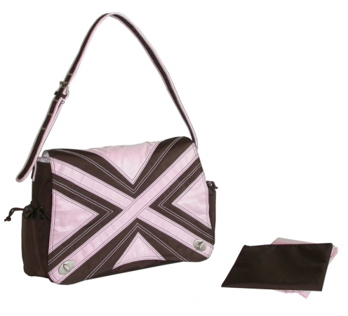 Kalencom 88161222417 Chocolate-Pink Hannahs Messenger Bag