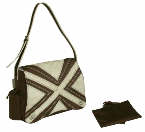 Kalencom 0-88161-22240-0 Chocolate-Tan Hannah's Messenger Bag